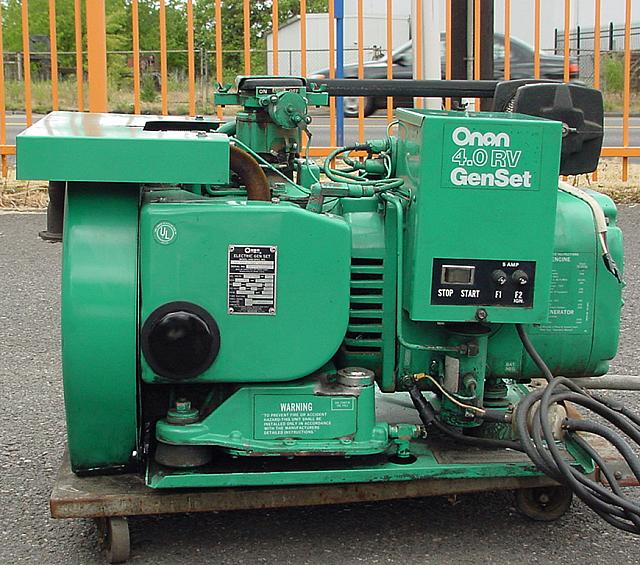 I Have An Onan Generator In My Rv It Is Model 6 5: EXCELLENT RUNNING ONAN 4 KW GENERATOR ONLY 112.3 HOURS